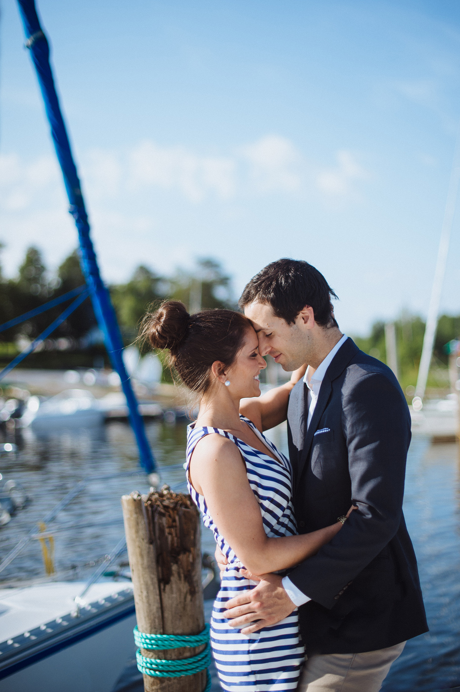 Sailing Engagement Photo