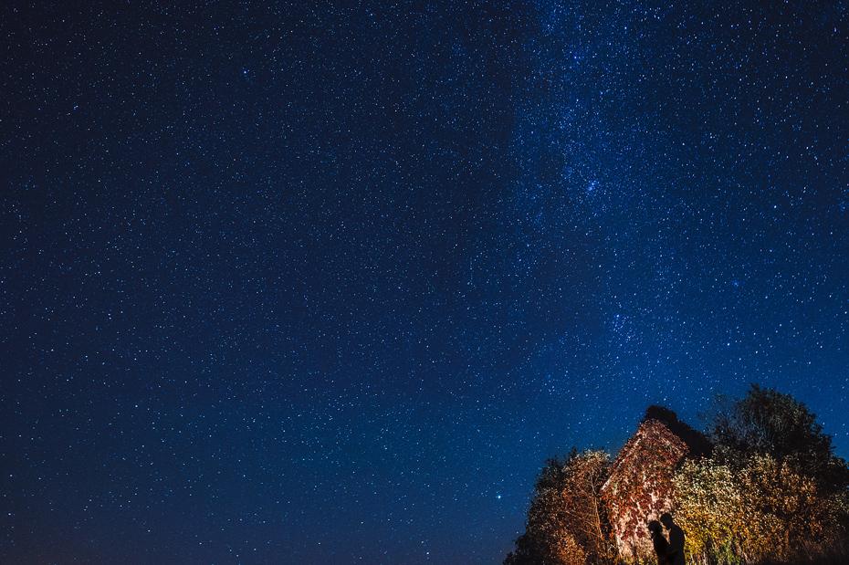 Couple Night Sky Portrait