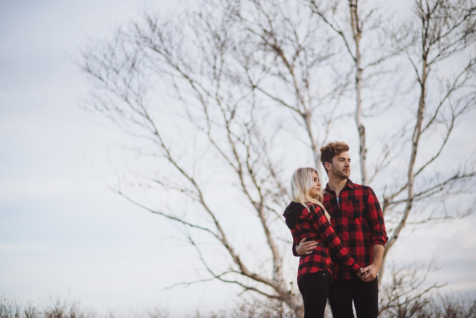 Lumberjack Couple Portrait