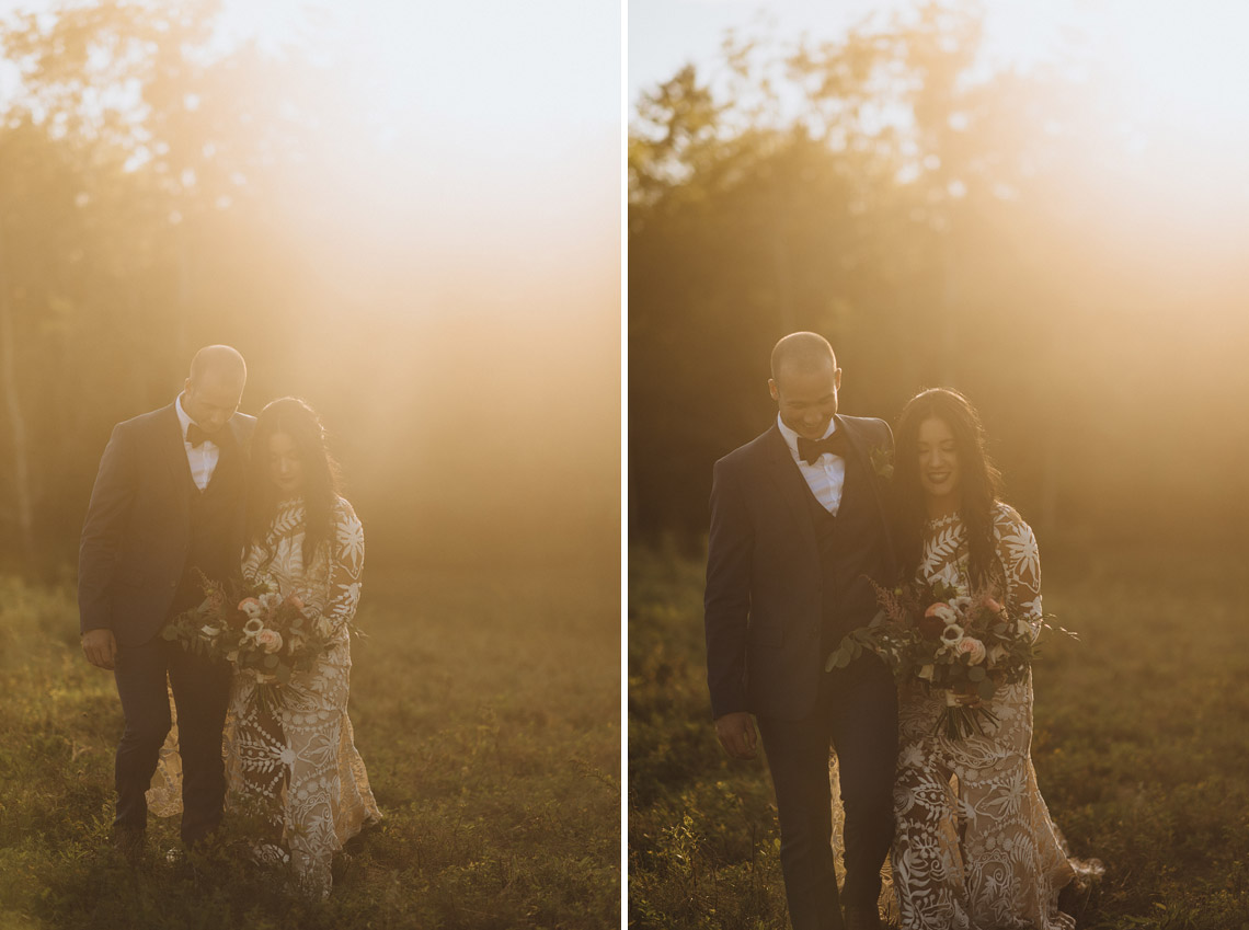 Golden Hour Wedding Portrait