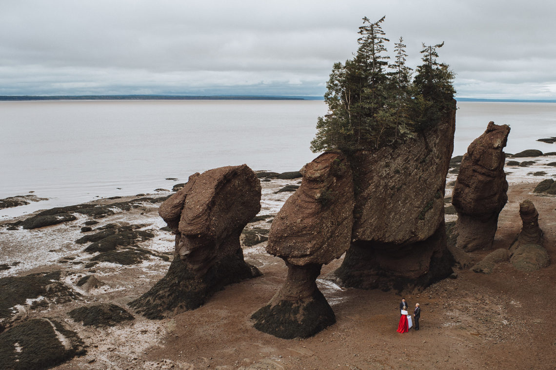 Hopewell Rocks Elopement – New Brunswick
